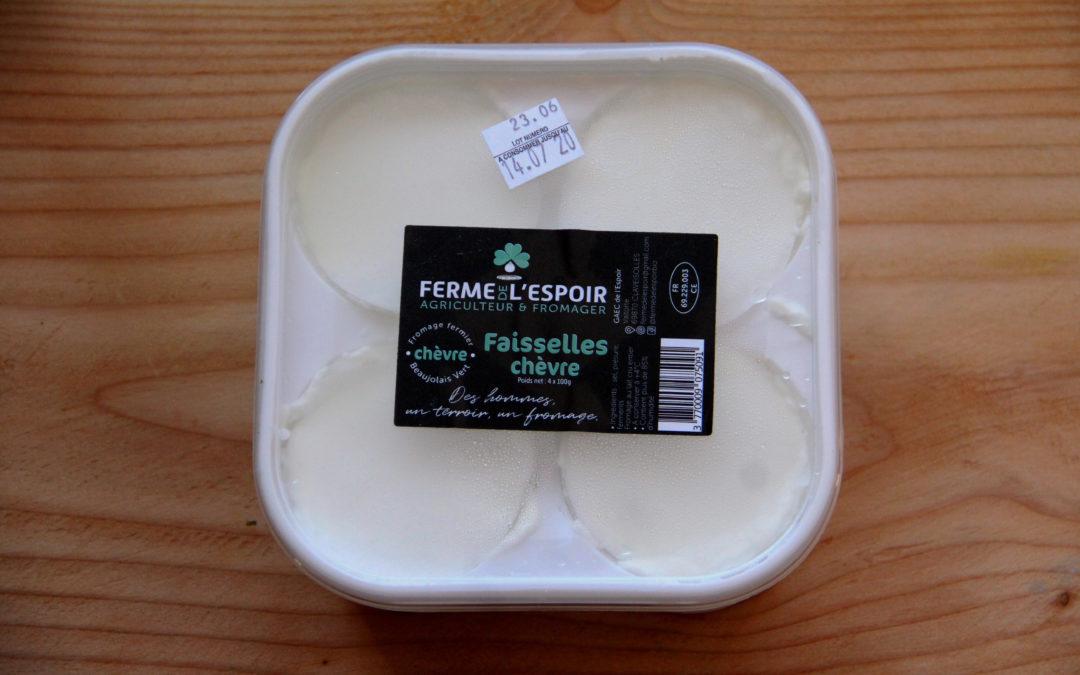 Les faisselles à base de lait de chèvre de la Ferme de l'Espoir